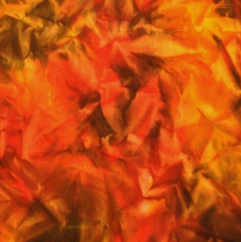 Handbeschilderde voering 'Autumn' bruin/geel/oranje