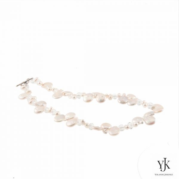 Solana White Coin Pearl Necklace-witte muntvormige parel halsketting