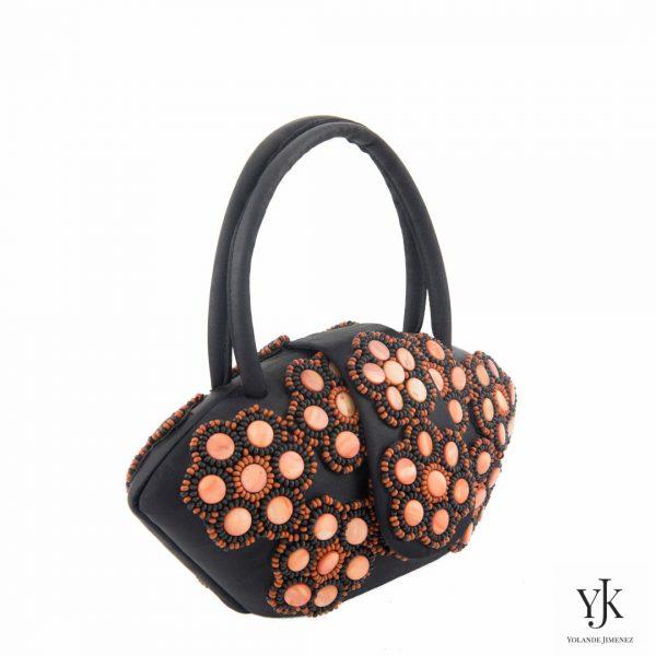 Zarita Evening Bag- Tas met oranje parelmoer decoratie